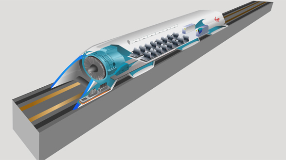 Hyperloop-Modell
